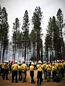 prescribed burning wildfire fighter training