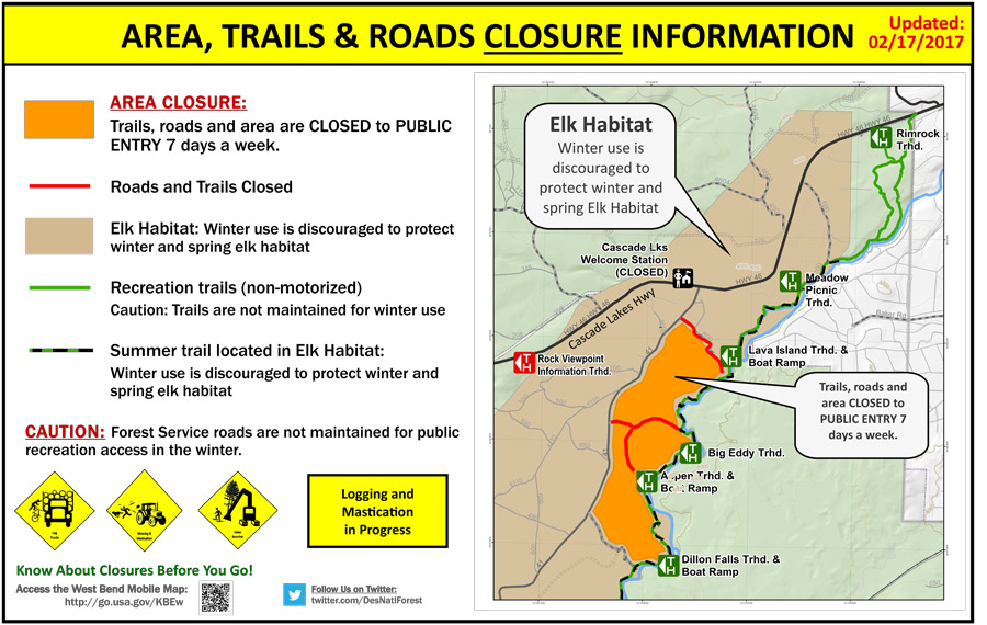 trail closures bend oregon forest restoration